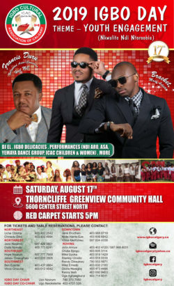 2020 Igbo Day Celebration Gala @ Thorncliffe Greenview Community